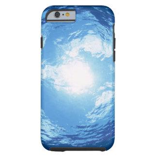 Visión de debajo el agua funda resistente iPhone 6