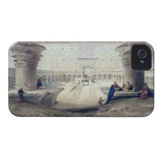 Visión de debajo el pórtico del templo de Edfou, Funda Para iPhone 4 De Case-Mate