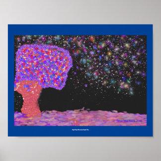Visión de la fantasía del árbol de Illumintes del Póster