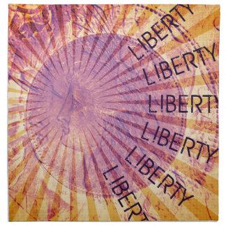 Vision de la libertad servilleta imprimida