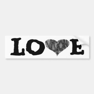 Vision de la pegatina para el parachoques del amor etiqueta de parachoque