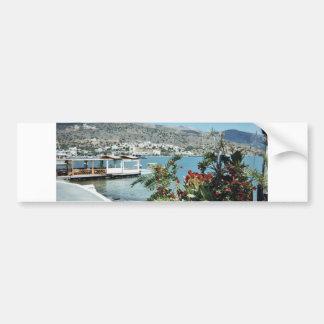 Visión de la playa pegatina de parachoque