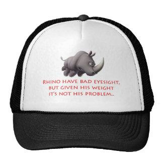 Visión de los pobres del rinoceronte gorro
