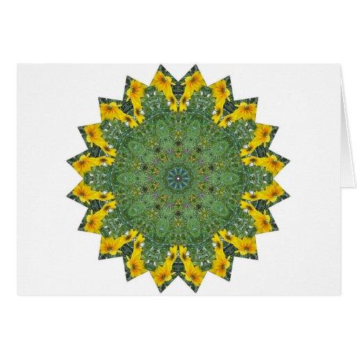 Visión de ojos verdes tarjeta de felicitación