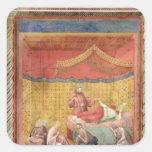 Vision de papa Gregorio IX 1297-99 Pegatinas Cuadradas