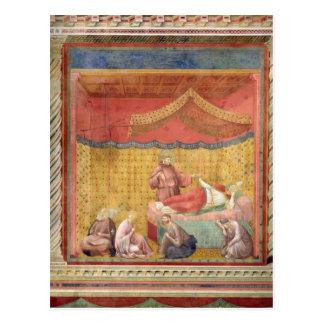 Vision de papa Gregorio IX 1297-99 Tarjeta Postal