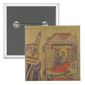 Vision de papa Inocencio III, c.1295-1300 Pin Cuadrado