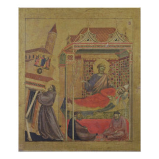 Vision de papa Inocencio III, c.1295-1300 Póster