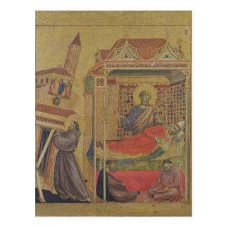 Vision de papa Inocencio III, c.1295-1300 Postal