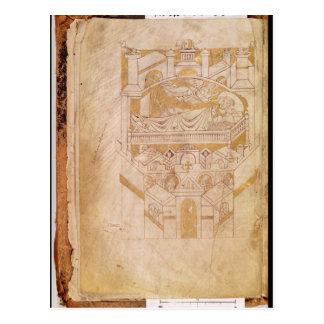 Vision de St. Aubert Tarjeta Postal