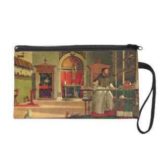 Vision de St Augustine, 1502-08 (aceite en lona) (
