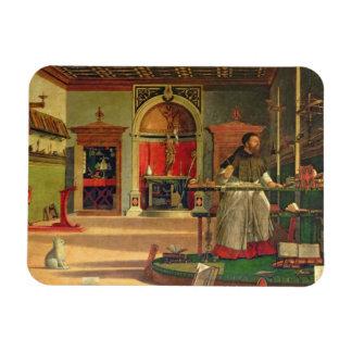 Vision de St Augustine, 1502-08 (aceite en lona) ( Imán Foto Rectangular