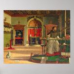 Vision de St Augustine, 1502-08 (aceite en lona) ( Póster
