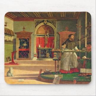 Vision de St Augustine, 1502-08 (aceite en lona) ( Tapetes De Raton