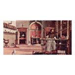 Vision de St Augustine de Carpaccio Vittore Tarjeta Con Foto Personalizada