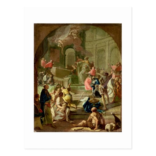 Vision de St. Benedicto, c.1760 Tarjetas Postales