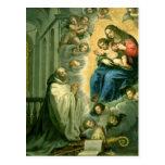 Vision de St Bernard, 1634 Tarjeta Postal