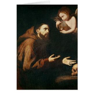 Vision de St Francis de Assisi Tarjeta De Felicitación