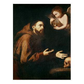 Vision de St Francis de Assisi Tarjetas Postales