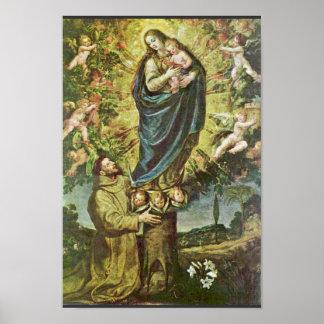 Vision de St Francis de Carducho Vicente Impresiones