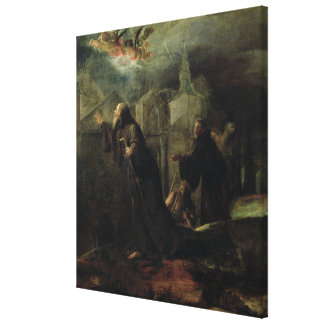 Vision de St Francis de Paola Impresión De Lienzo