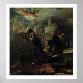 Vision de St Francis de Paola Póster