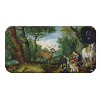 Vision de St. Huberto, c.1620 (aceite en el panel) iPhone 4 Protectores
