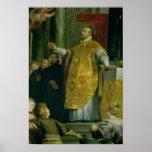 Vision de St Ignatius de Loyola Posters