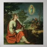 Vision de St. John el evangelista en Patmos Posters