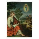 Vision de St. John el evangelista en Patmos Felicitación