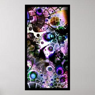 Vision de un universo infinito en un minuto finito póster