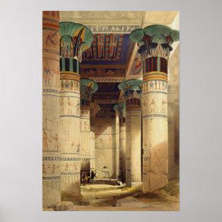 Visión debajo del pórtico magnífico Philae Posters