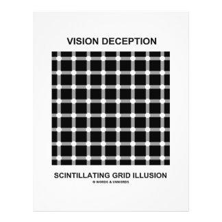 "Vision Deception Scintillating Grid Illusion 8.5"" X 11"" Flyer"