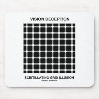 Vision Deception Scintillating Grid Illusion Mouse Pad