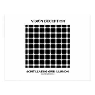 Vision Deception Scintillating Grid Illusion Postcard