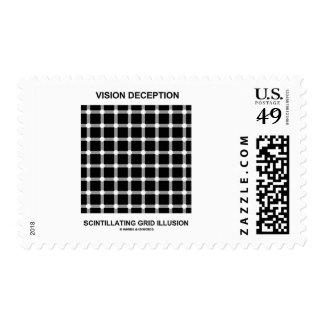 Vision Deception Scintillating Grid Illusion Stamps