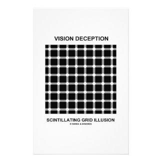 Vision Deception Scintillating Grid Illusion Stationery