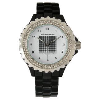 Vision Deception Scintillating Grid Illusion Wristwatch