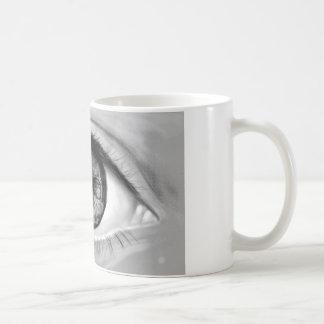 Visión del doble del ojo del cráneo tazas de café