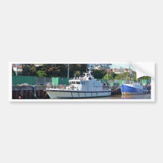 Visión del mar del buque de la encuesta pegatina para coche