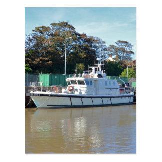 Visión del mar del buque de la encuesta tarjeta postal