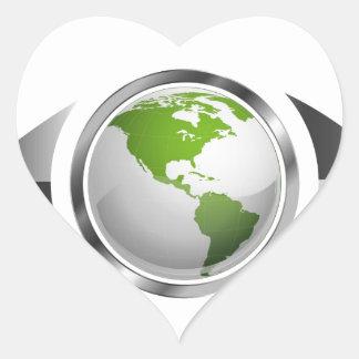 Visión del mundo pegatina corazón