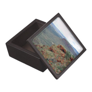 Visión del norte a lo largo de la colina del trans cajas de joyas de calidad