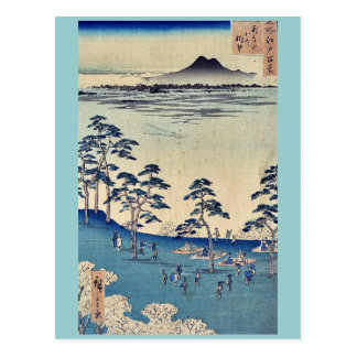 Visión del norte desde Asukayama por Ando, Hiroshi Tarjeta Postal