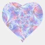 Vision del pegatina artístico del corazón de la