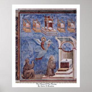 Vision del trono de Giotto Di Bondone Impresiones