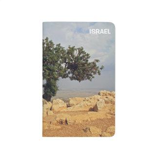 Visión desde Arbel en Israel en un diario del bols Cuaderno Grapado