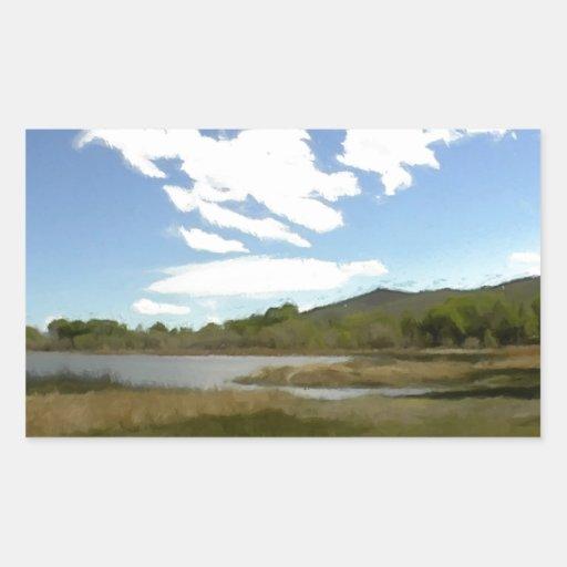 Visión desde el borde del lago rectangular altavoces