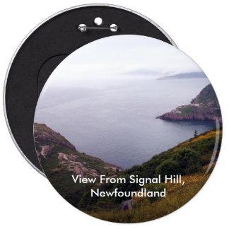 Visión desde el botón de la colina 1 de la señal pin redondo de 6 pulgadas