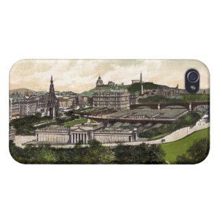 Visión desde el castillo de Edimburgo iPhone 4 Cárcasa